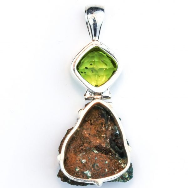 Peridot and Uvarovite Silver Pendant