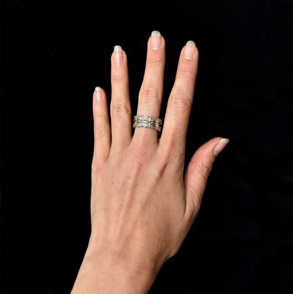 Gold and Silver Israeli Ring