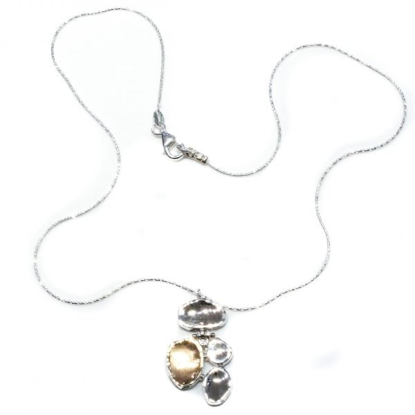 Contemporary Gold And Silver Israeli Necklace