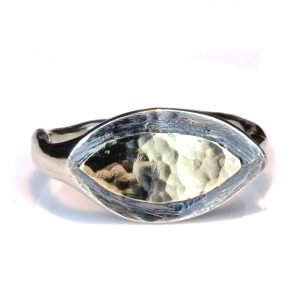 Israeli Gold and Silver Ancient Eye Ring