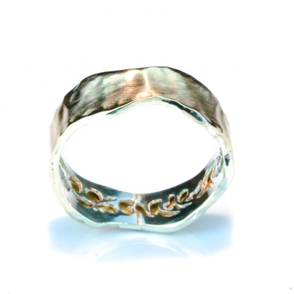 Gold and Silver Contemporary Israeli Ring