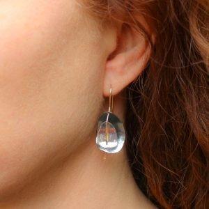 Handmade Gold and Silver Israeli Earrings