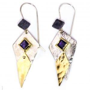Contemporary Israeli Handmade Earrings