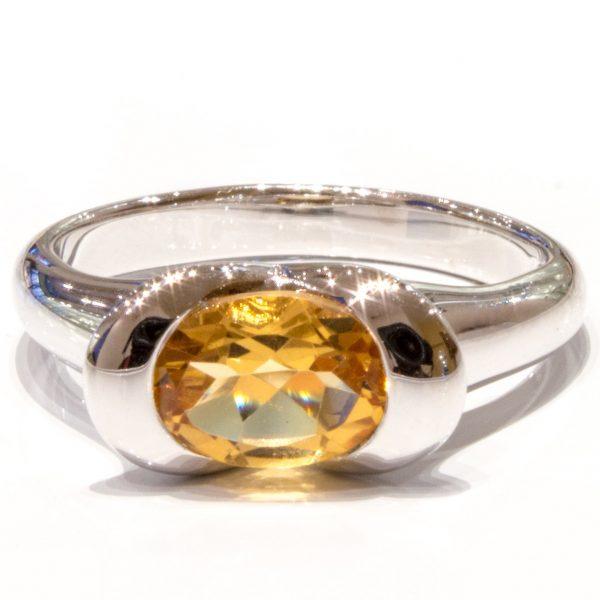 Citrine Oval Handmade Ring