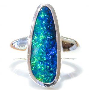 Unique Australian Opal Handmade Ring