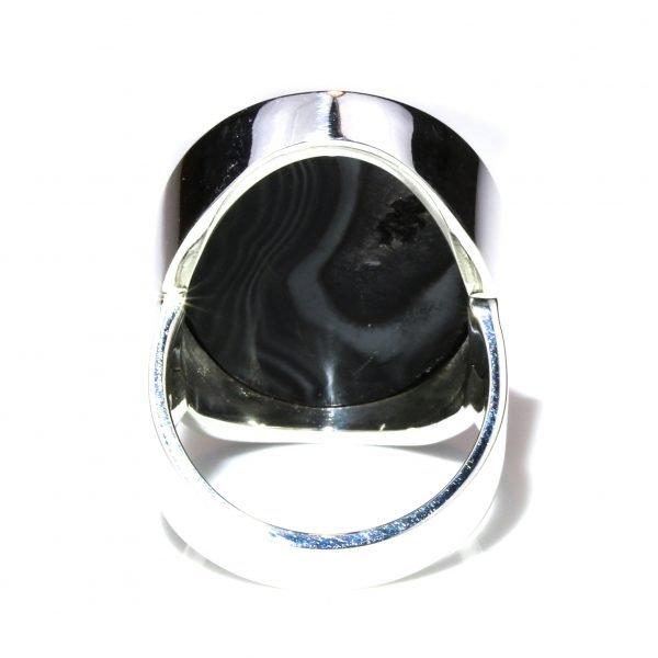 Psilomelane Minimalist Ring
