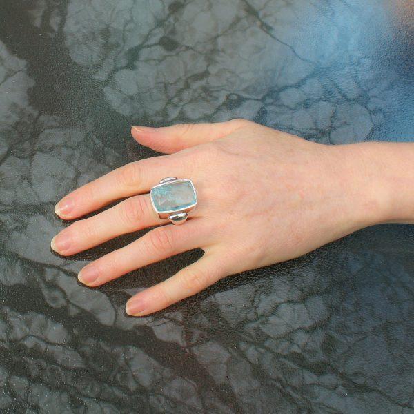 Bold Aquamarine Ring