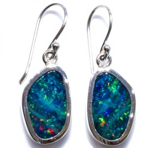 Black Opal Minimalist Earrings