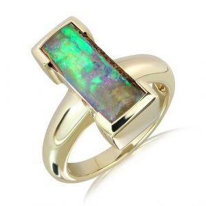 Australian Boulder Opal Gold Ring