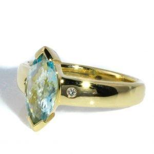 Aquamarine Ring In Gold