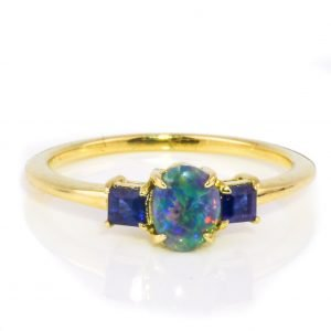 Sapphire and Opal Ring
