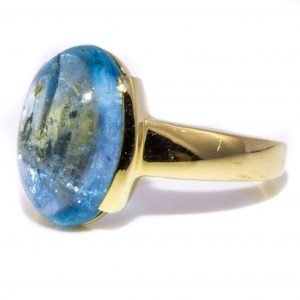 Oval Aquamarine Ring In Gold