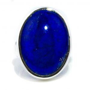 Oval Cabochon Lapis Ring