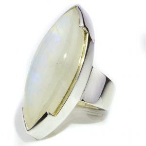 Cabochon Marquise Moonstone Ring