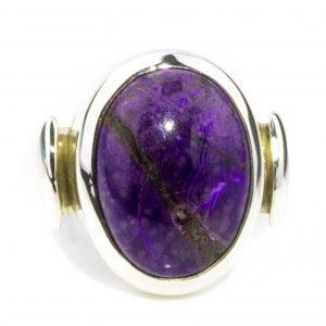 Oval Violet Sugilite Ring