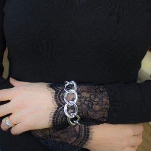 Silver Twist Link Bracelet