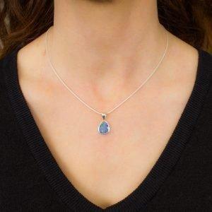 Bright Opal Pendant in Silver