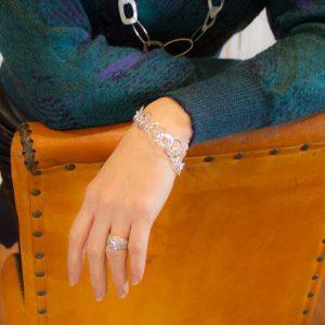 Silver Circle Link Bracelet