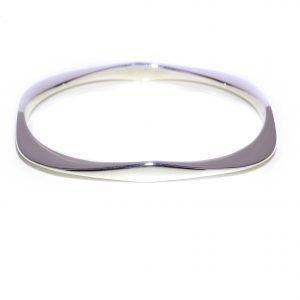 Silver Curves Bangle